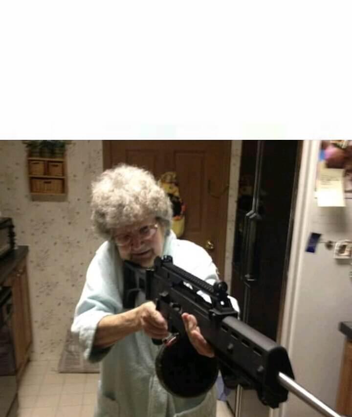 Ir a la pagina de la plantilla Abuela con un sniper.