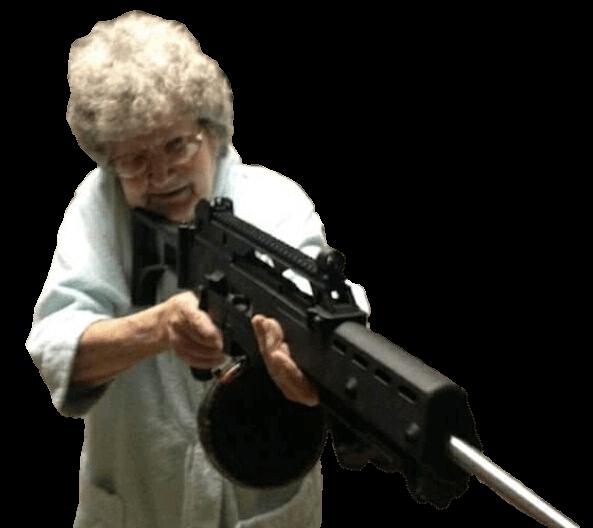 Plantilla de Abuela con un sniper