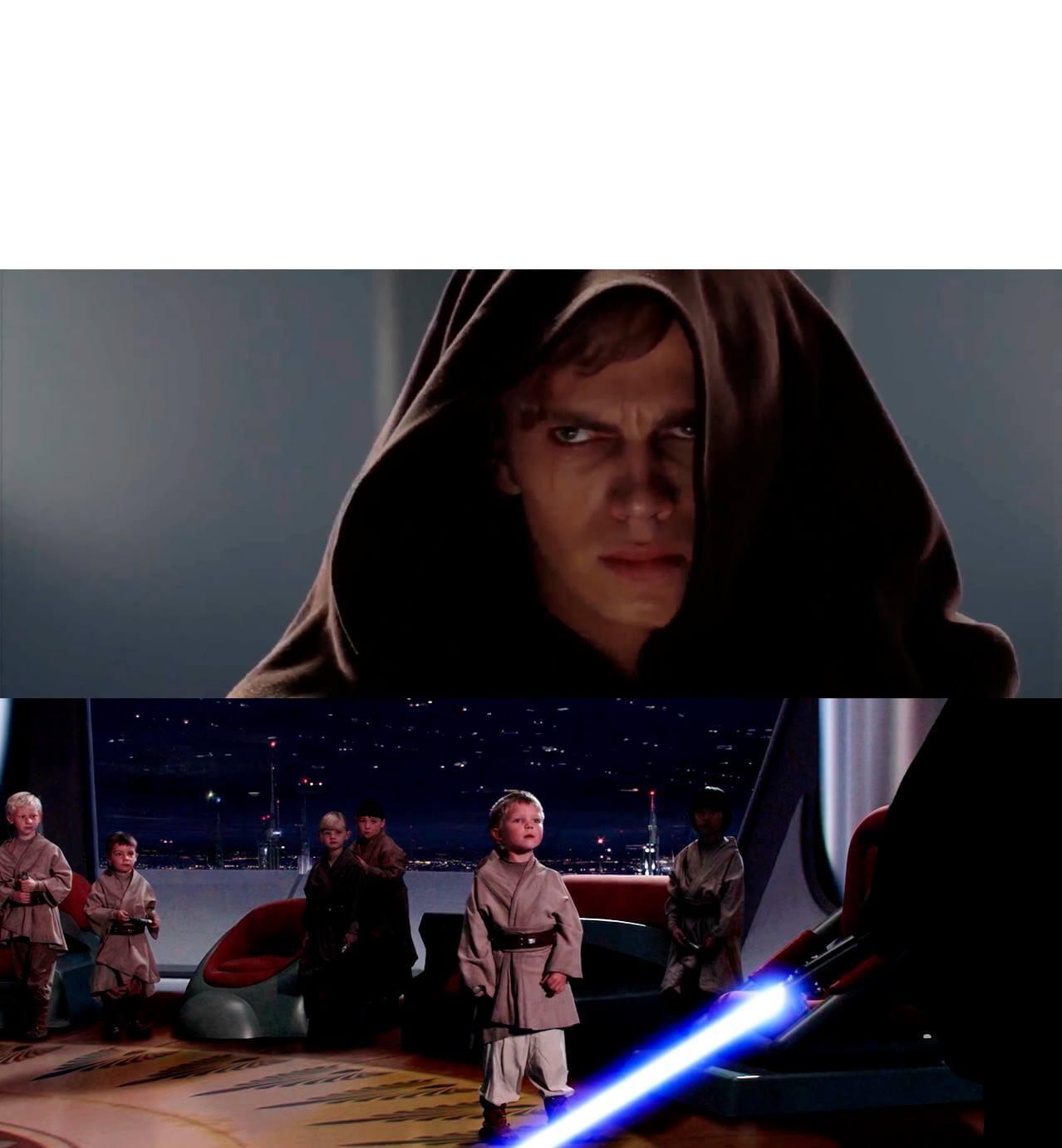 Ir a la pagina de la plantilla Anakin matando a niños padawans.