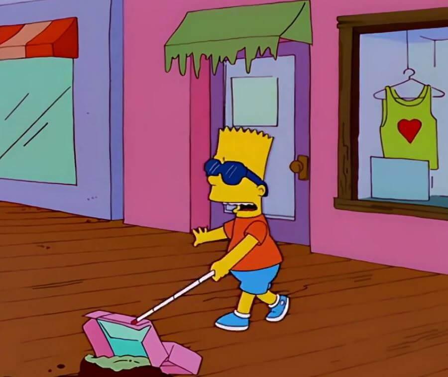 Ir a la pagina de la plantilla Bart ciego.