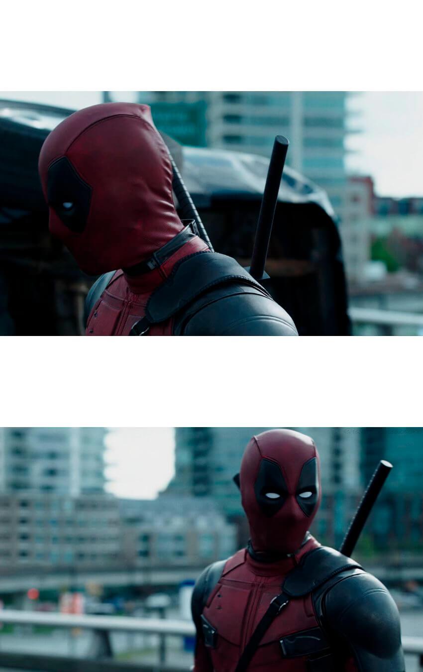 Ir a la pagina de la plantilla Deadpool malo | Deadpool bueno.