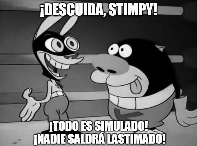 Plantilla de ¡Descuida, Stimpy! ¡Todo es simulado!