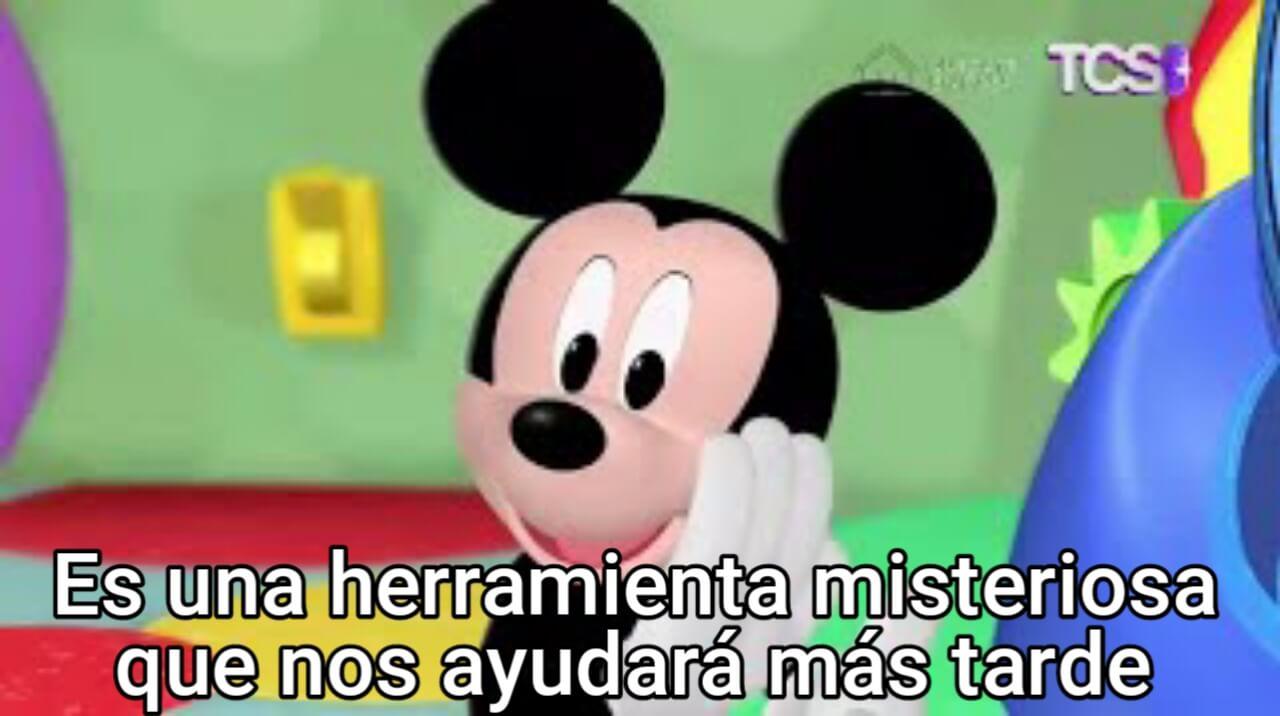 Ir a la pagina de la plantilla Es una herramienta misteriosa que nos ayudará más tarde | Mickey Mouse.