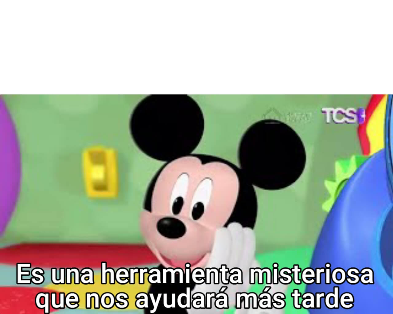 Plantilla de Es una herramienta misteriosa que nos ayudará más tarde   Mickey Mouse