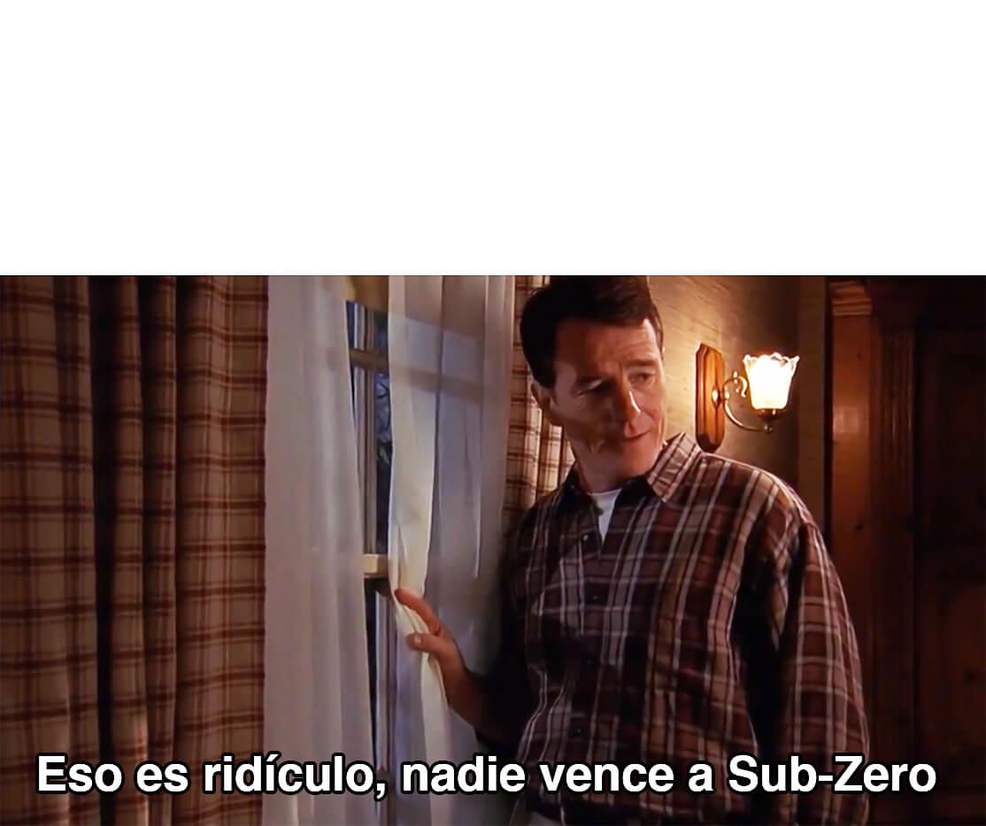 Ir a la pagina de la plantilla Eso es ridículo, nadie vence a Sub-Zero.