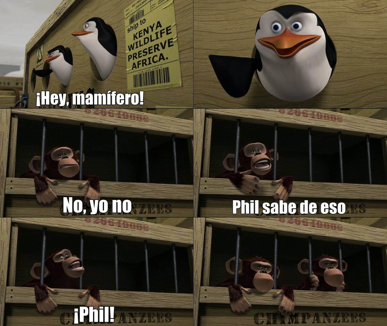 Ir a la pagina de la plantilla Hey, mamifero! | ... | No, yo no | Phil sabe de eso | ¡Phil!.