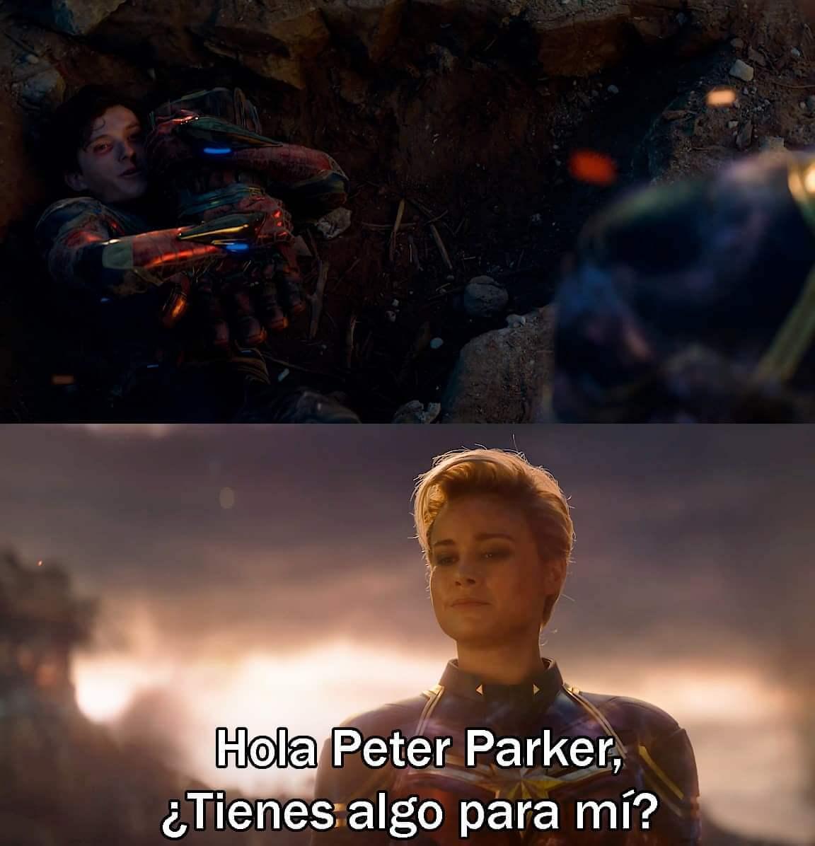 Ir a la pagina de la plantilla Hola Peter Parker, ¿Tienes algo para mí?.