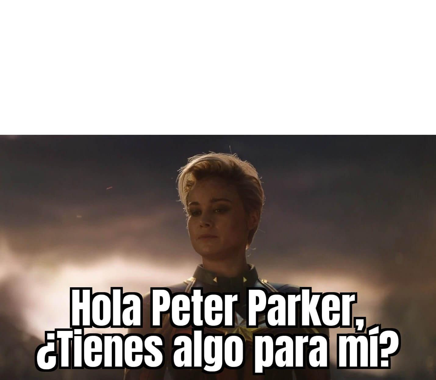 Plantilla de Hola Peter Parker, ¿Tienes algo para mí?