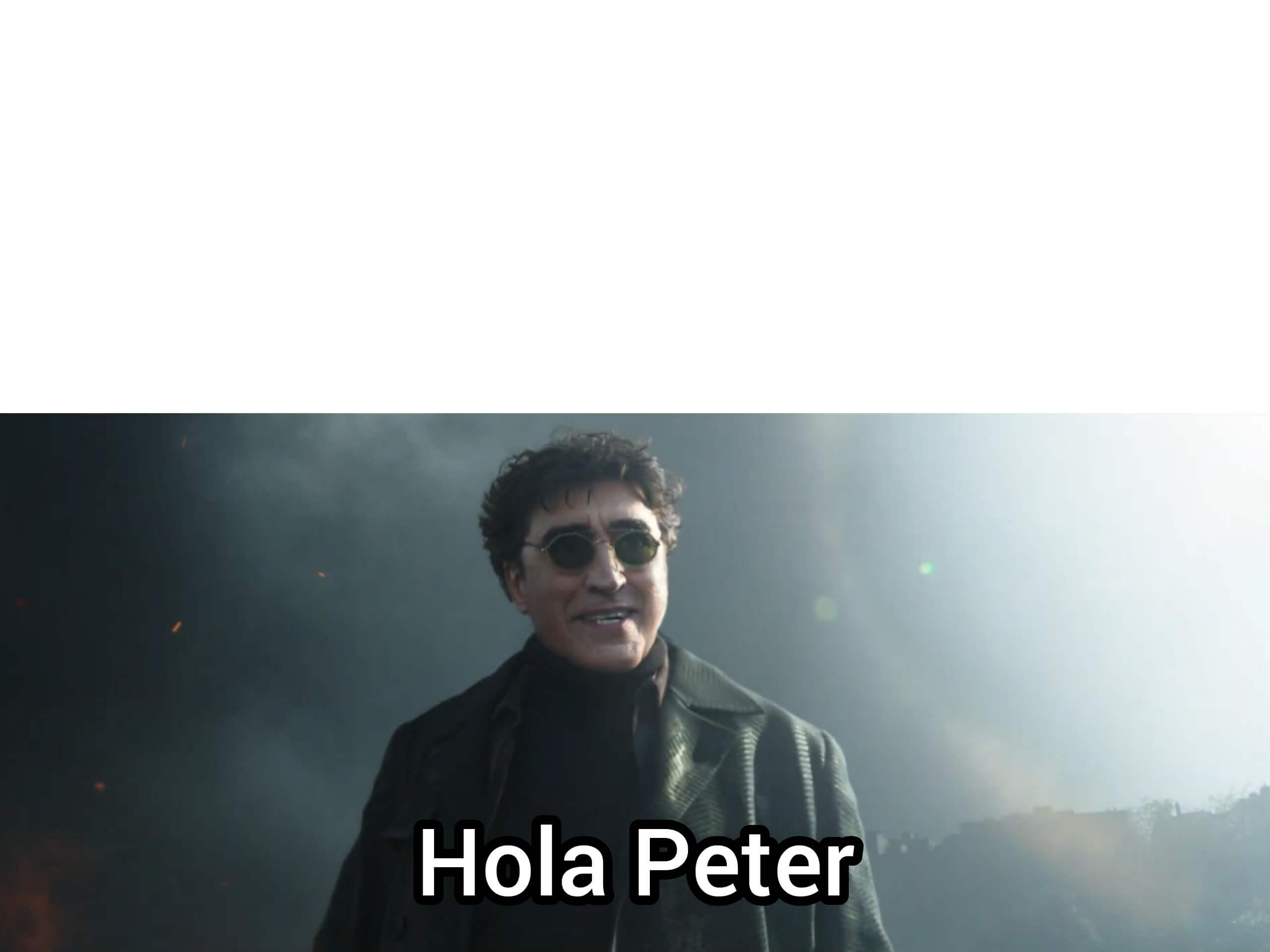 Ir a la pagina de la plantilla Hola Peter.