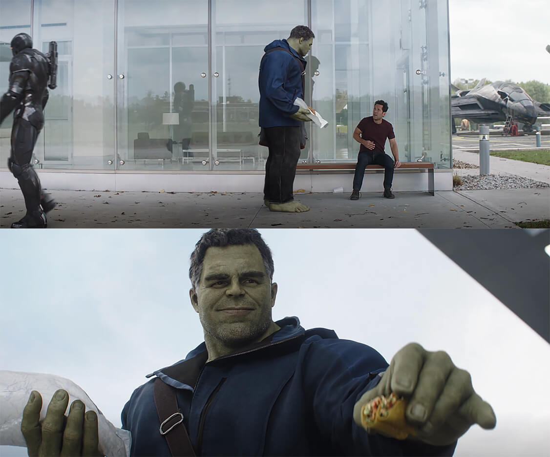 Ir a la pagina de la plantilla Hulk ofreciéndole taco a Ant-Man.