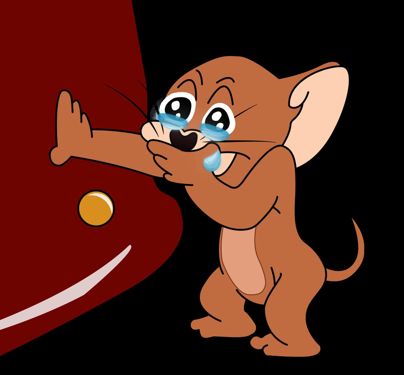 Plantilla de Jerry riendo