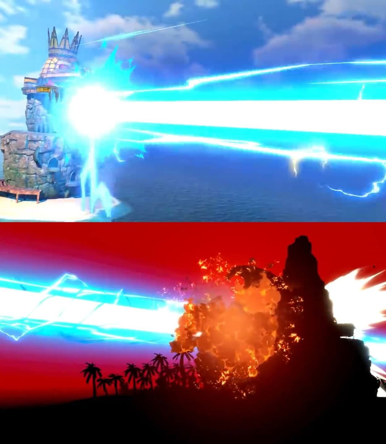 Plantilla de King K.Rool Destruyendo la Isla DK