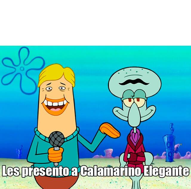 Ir a la pagina de la plantilla Les presento a Calamarino Elegante.