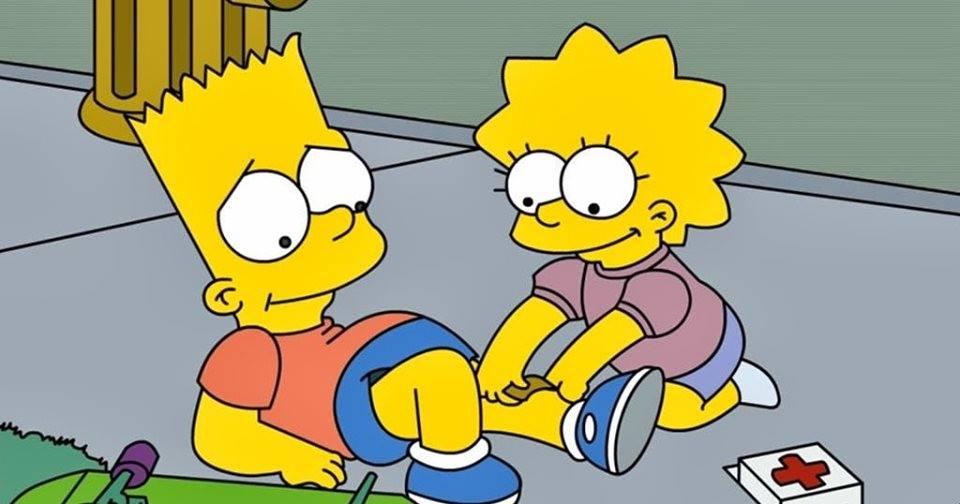 Ir a la pagina de la plantilla Lisa curando a Bart.