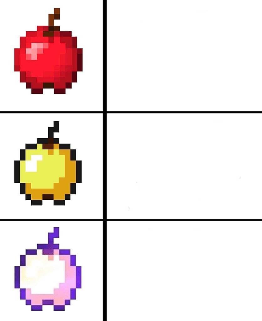Plantilla de Manzanas de Minecraft