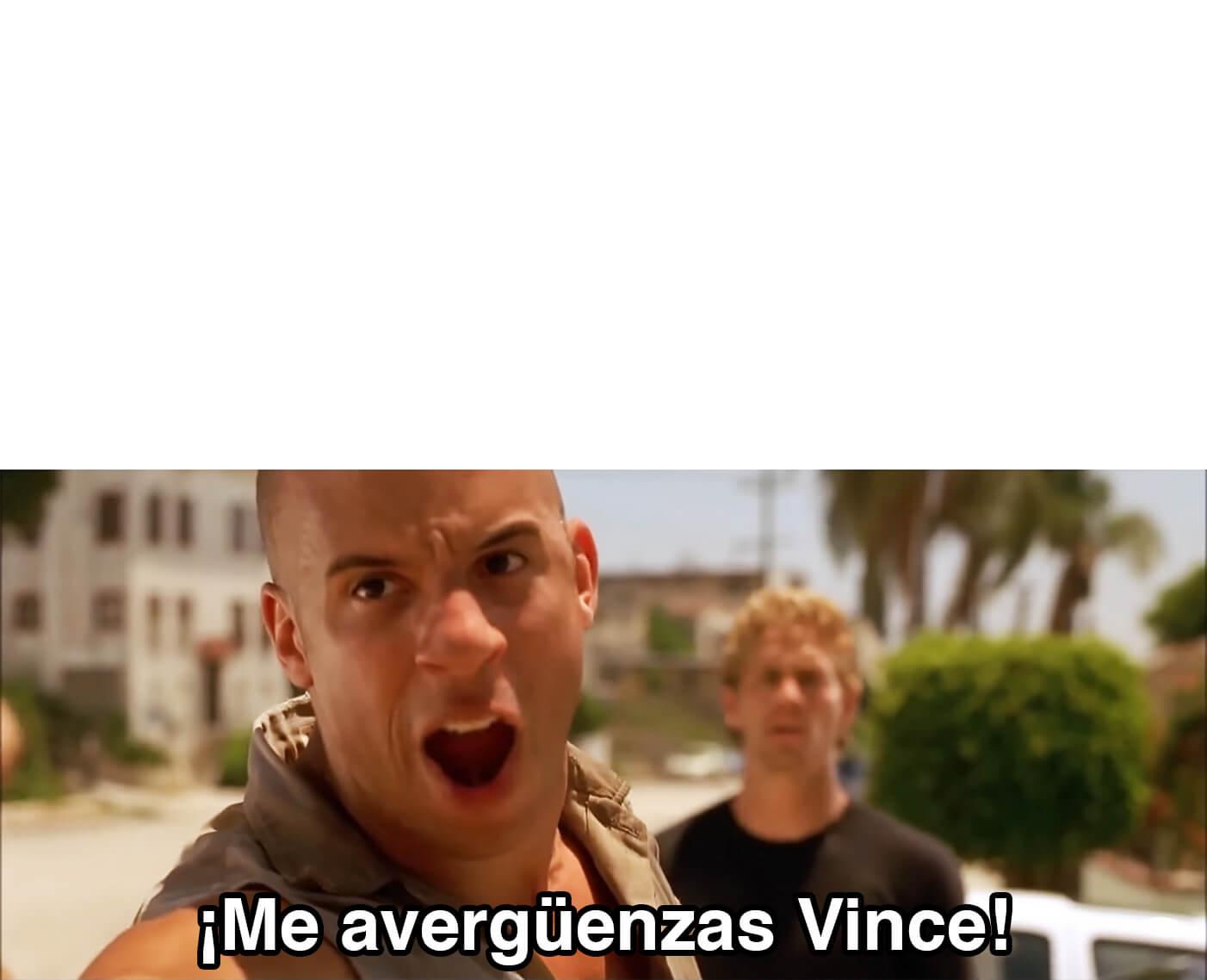 Ir a la pagina de la plantilla Me avergüenzas Vince.