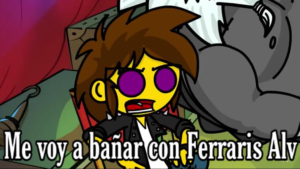 Plantilla de Me voy a bañar con Ferraris Alv