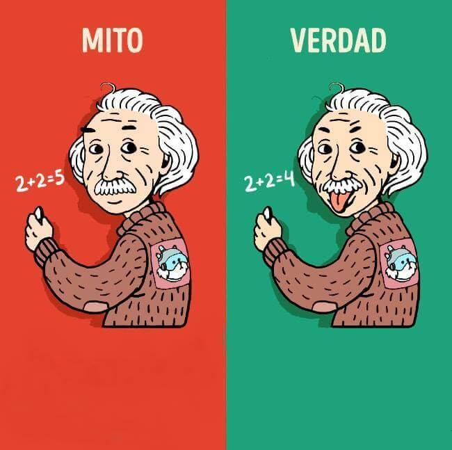 Plantilla de Mito / Verdad - Albert Einstein