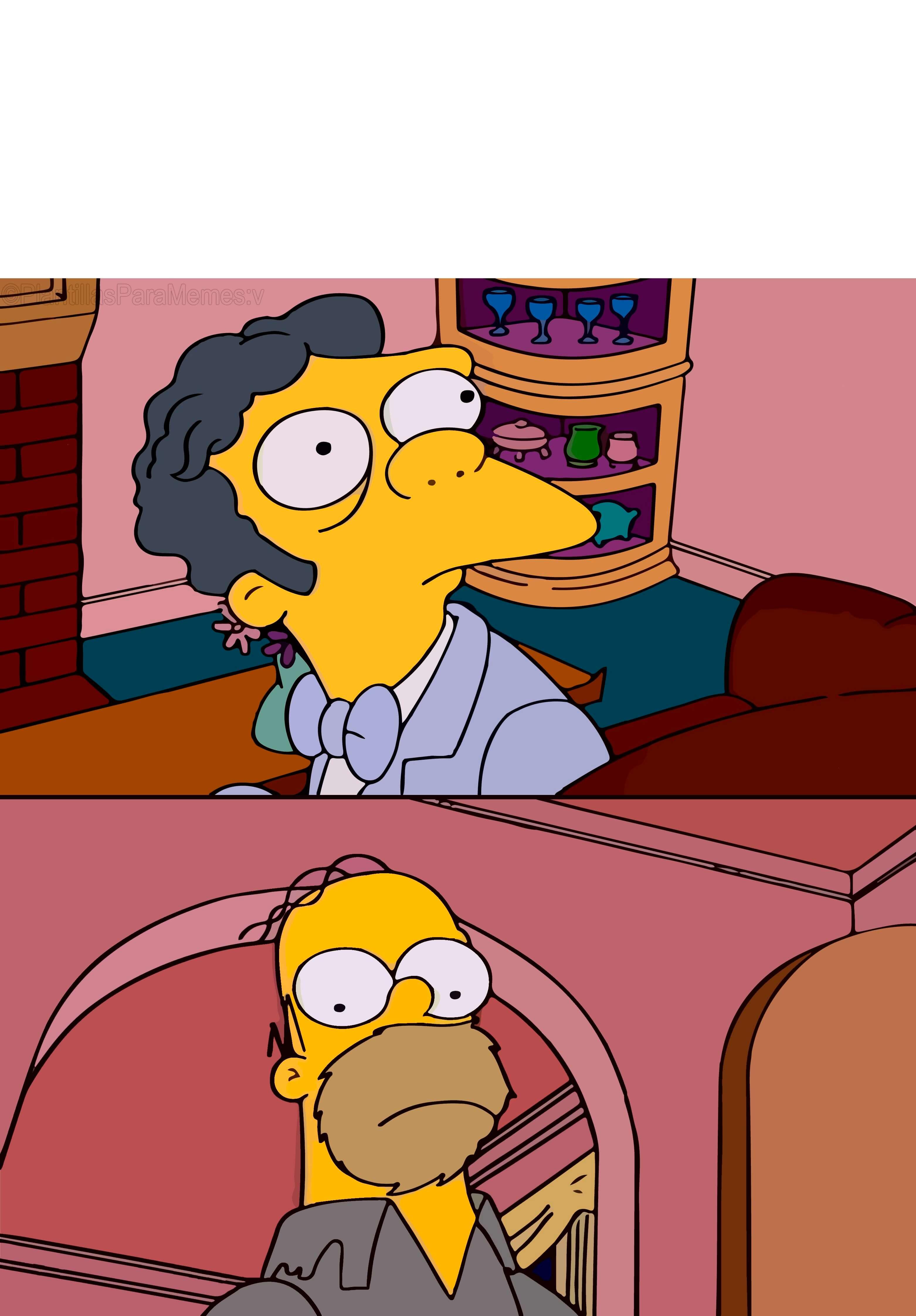Ir a la pagina de la plantilla Moe y Homero mirándose | Que haces aquí.