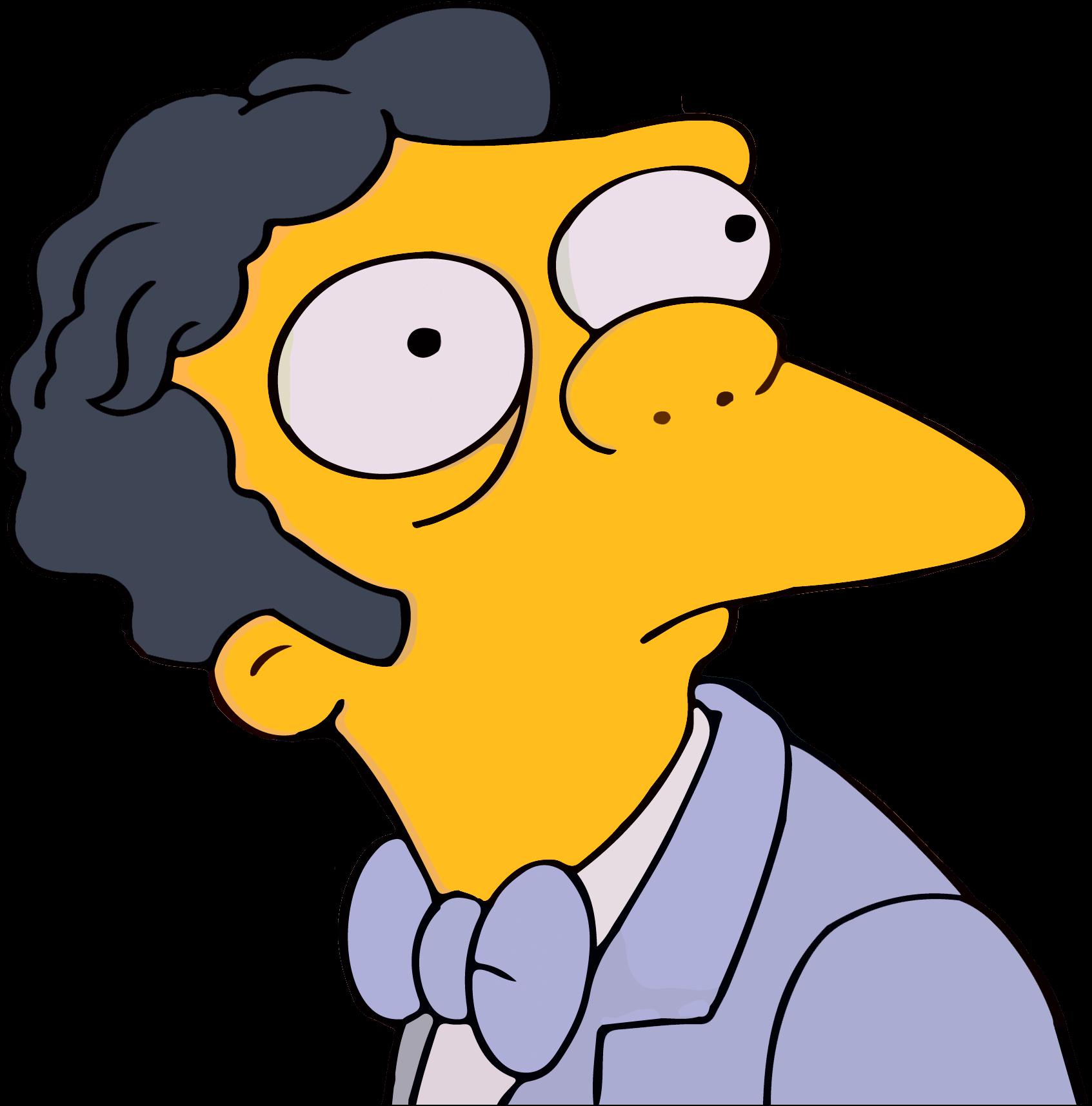 Plantilla de Moe y Homero mirándose | Que haces aquí