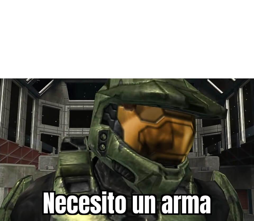 Plantilla de Necesito un arma
