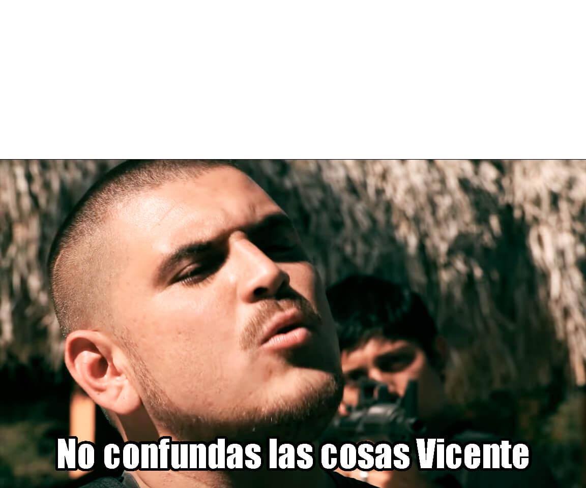 Ir a la pagina de la plantilla No confundas las cosas Vicente.