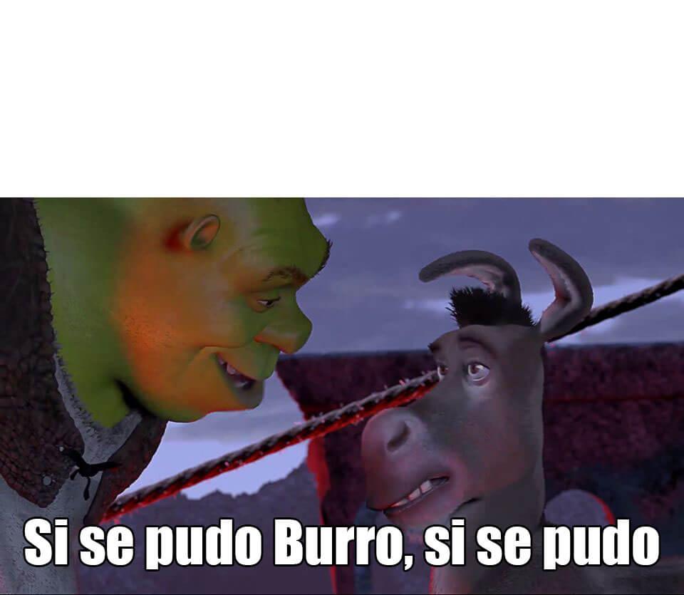 Ir a la pagina de la plantilla Si se pudo Burro, si se pudo.