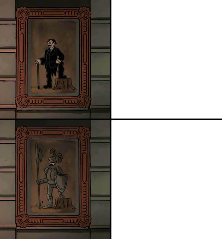 Plantilla de Siempre caballero