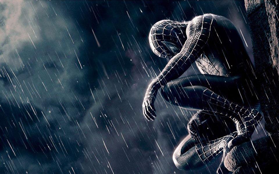 Plantilla de Spider-Man triste