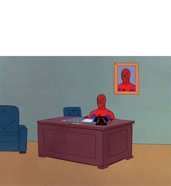 Plantilla de Spiderman esperando