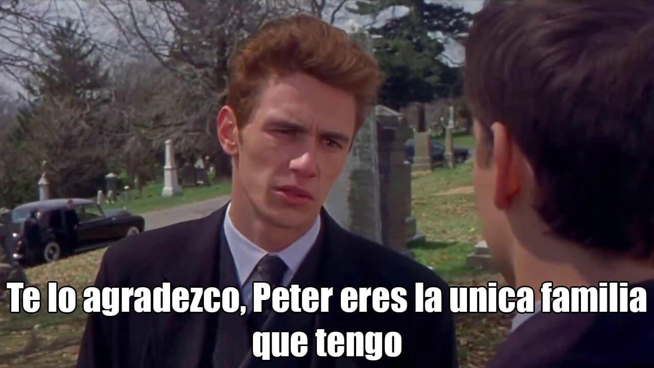 Plantilla de Te lo agradezco, Peter eres la única familia que tengo