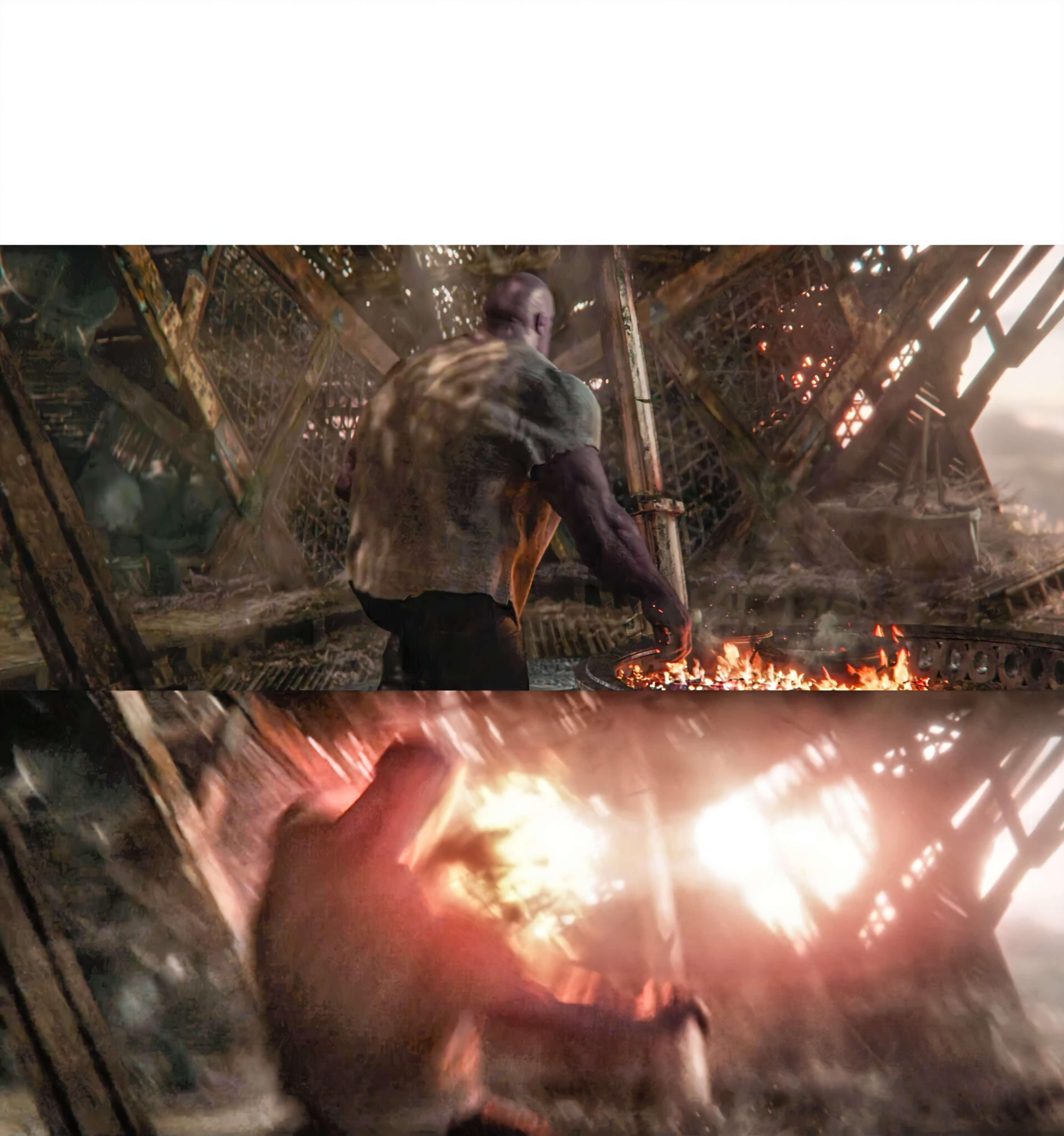 Plantilla de Thanos es golpeado por Capitana Marvel