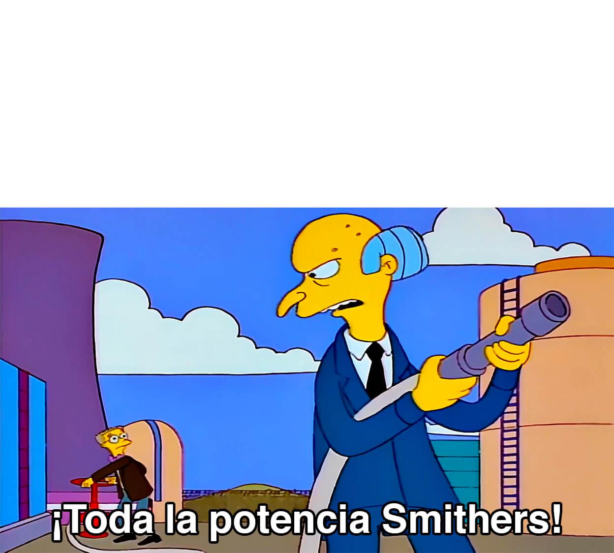 Plantilla de Toda la potencia Smithers