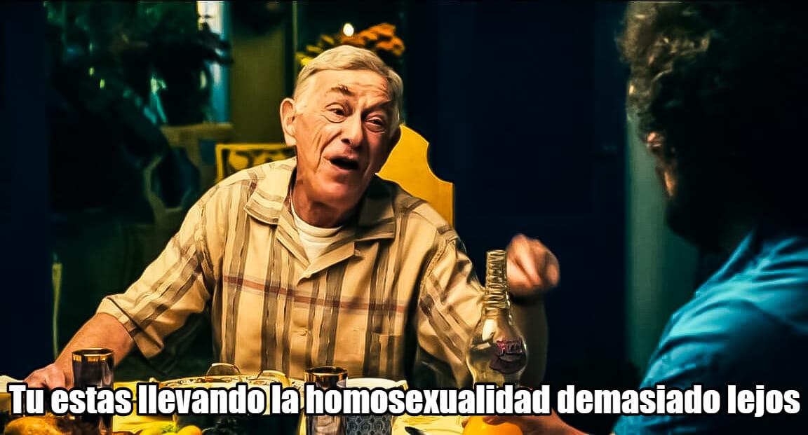 Ir a la pagina de la plantilla Tu estas llevando la homosexualidad demasiado lejos.
