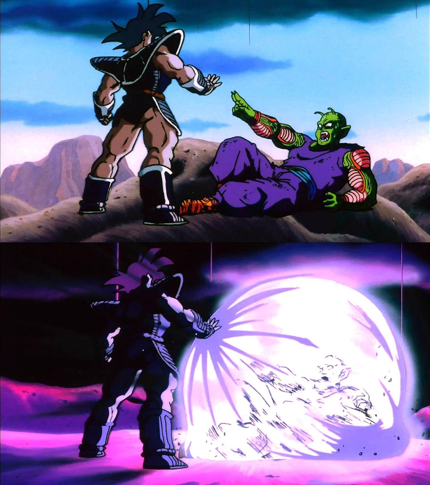 Ir a la pagina de la plantilla Turles atacando a Piccolo.