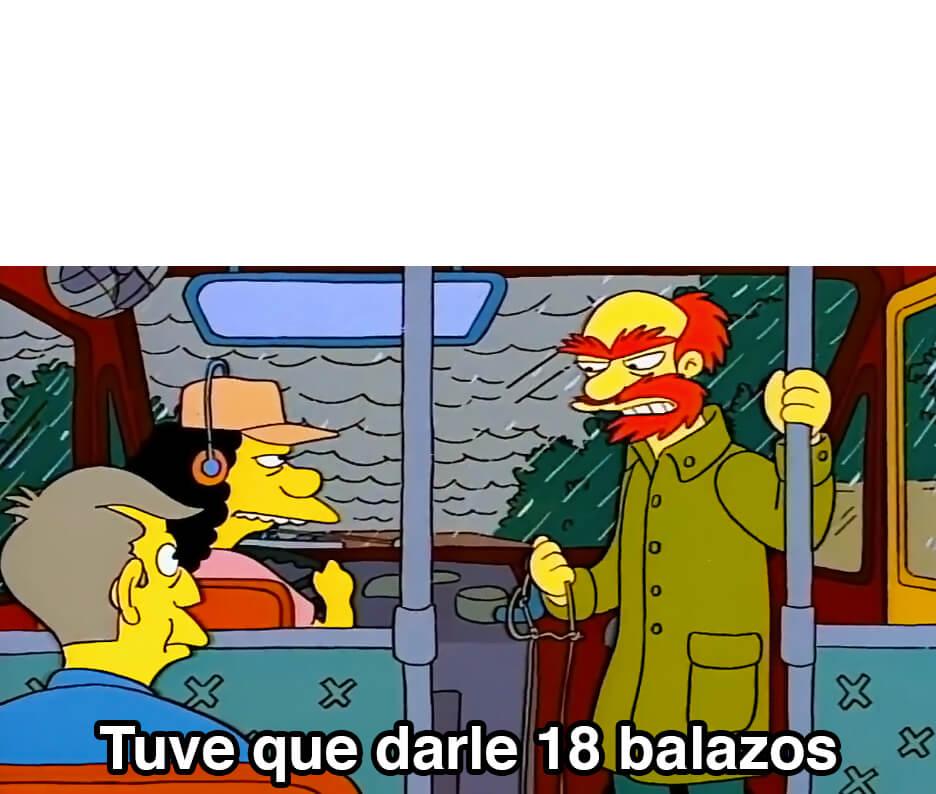 Plantilla de Tuve que darle 18 balazos