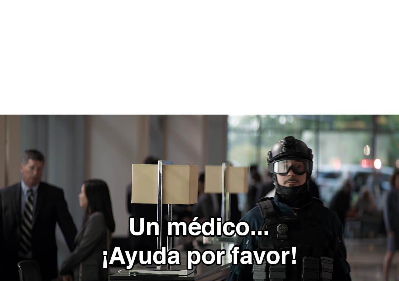 Plantilla de ¡Un médico! ¡Ayuda por favor!