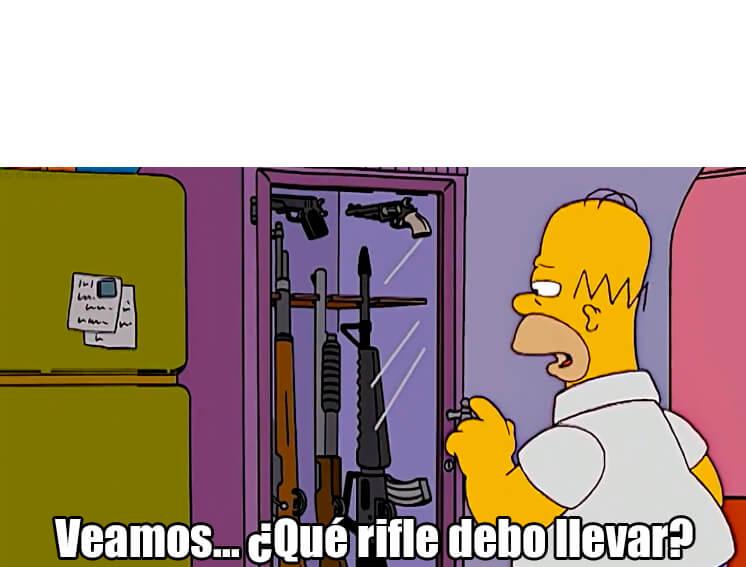 Ir a la pagina de la plantilla Veamos... ¿Qué rifle debo llevar?.