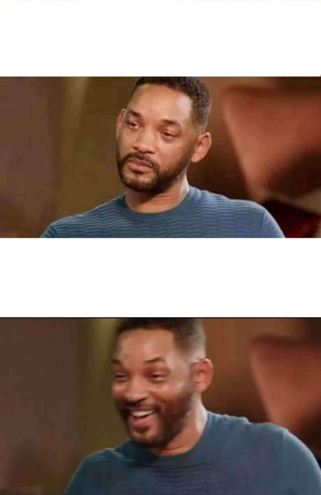 Ir a la pagina de la plantilla Will Smith triste y luego feliz.