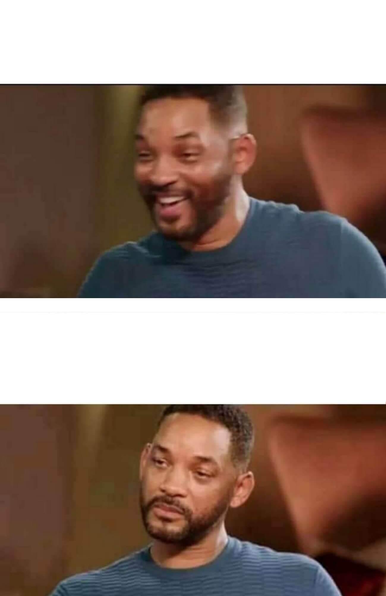 Plantilla de Will Smith triste y luego feliz