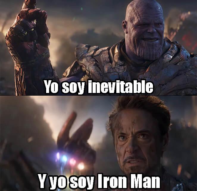 Plantilla de Yo soy inevitable   Y yo soy Iron Man